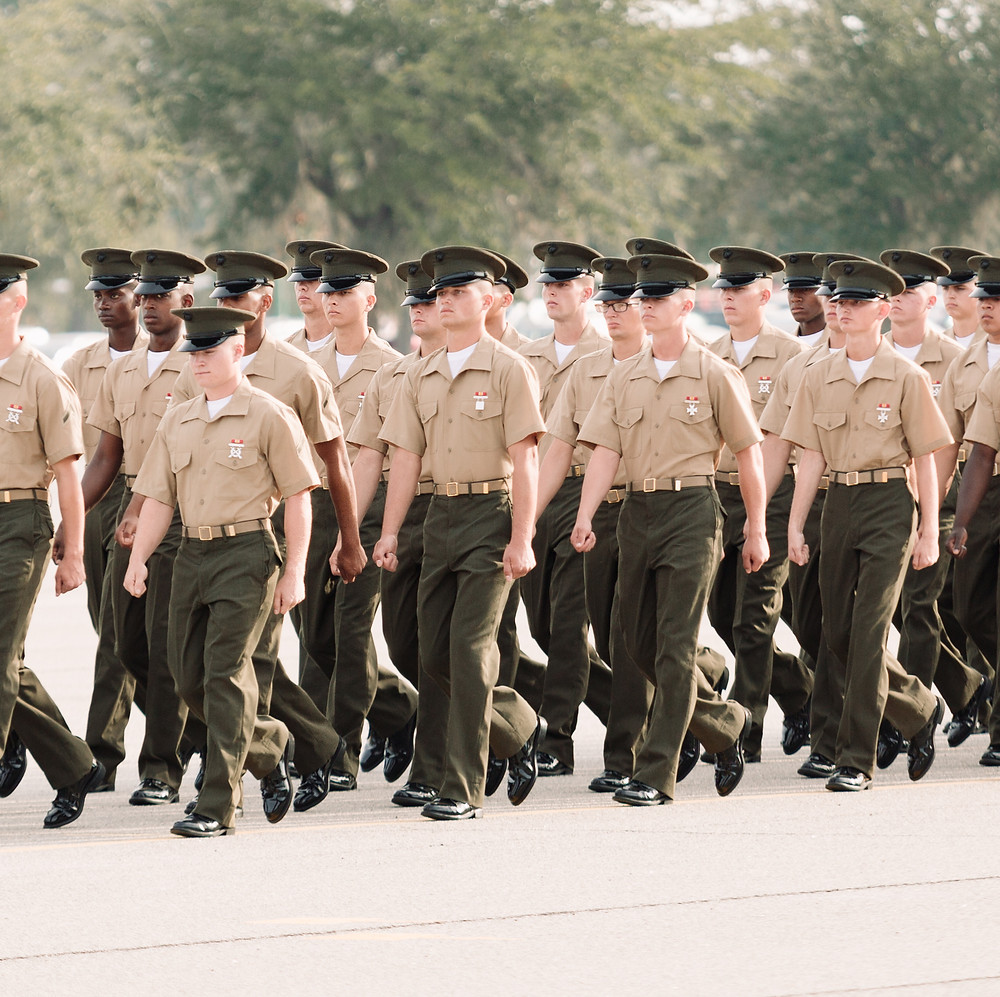 Graduation Ceremony for Marines on Parris Island