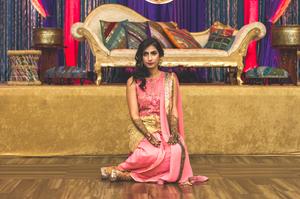 A bride ready for Henna ceremony