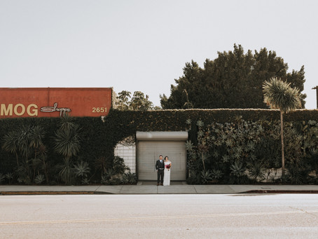 Joe & Katherine's LA Wedding at The Smog Shop