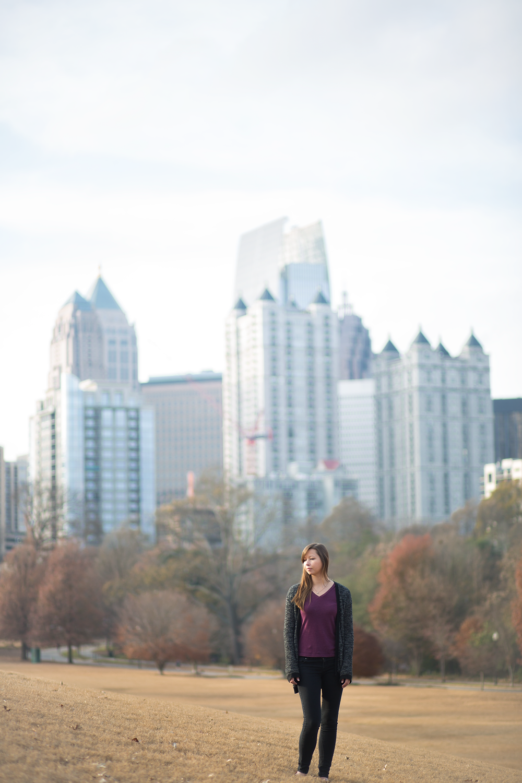 Atlanta skyline at Piedmont Park