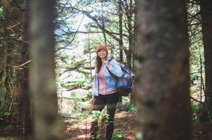 Portrait in the forest