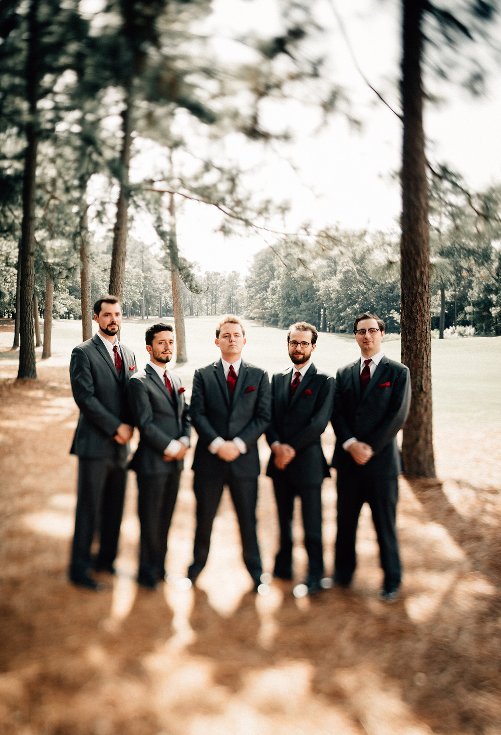 Groomsmen serious pictures