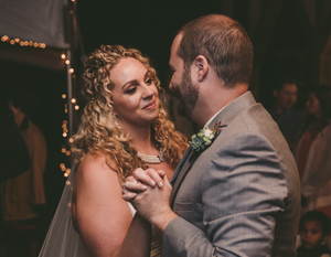 First dance hand in hand