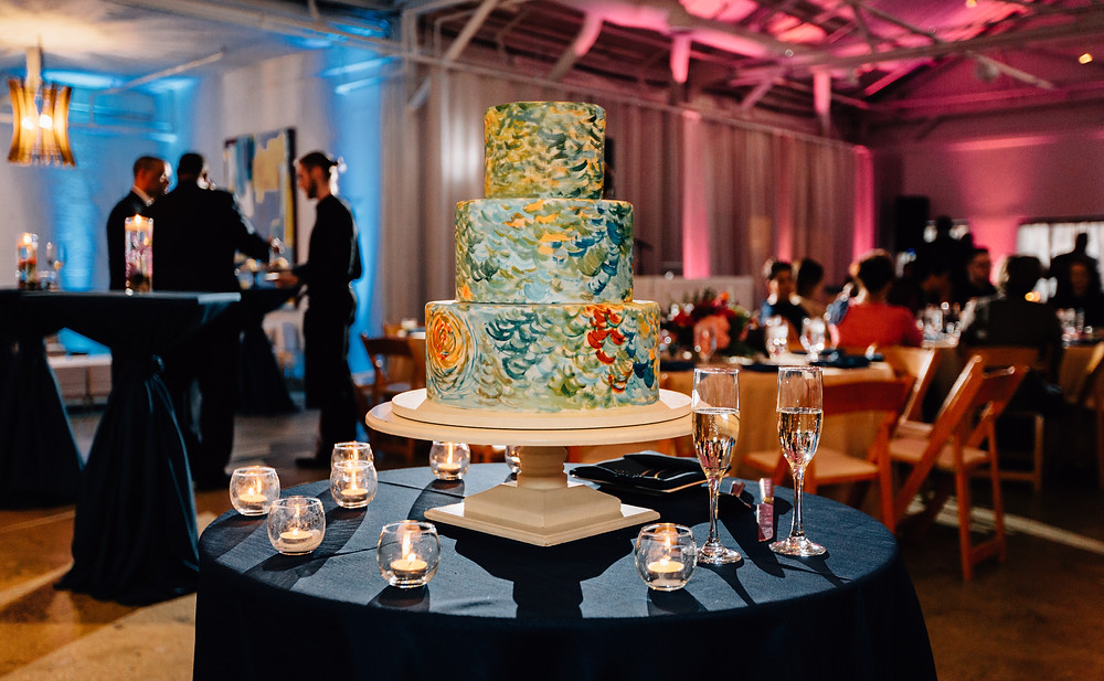 Frosted Pumpkin Gourmet Atlanta Alpharetta wedding cakes