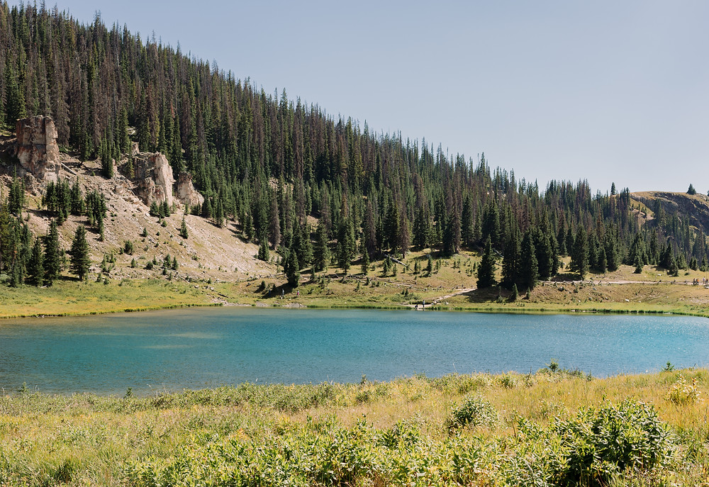 Lake at Mount Ida trailhead
