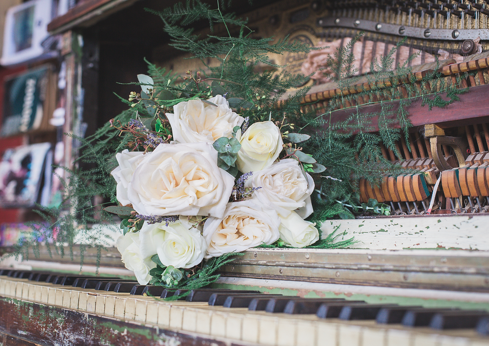 Flowers on a piano