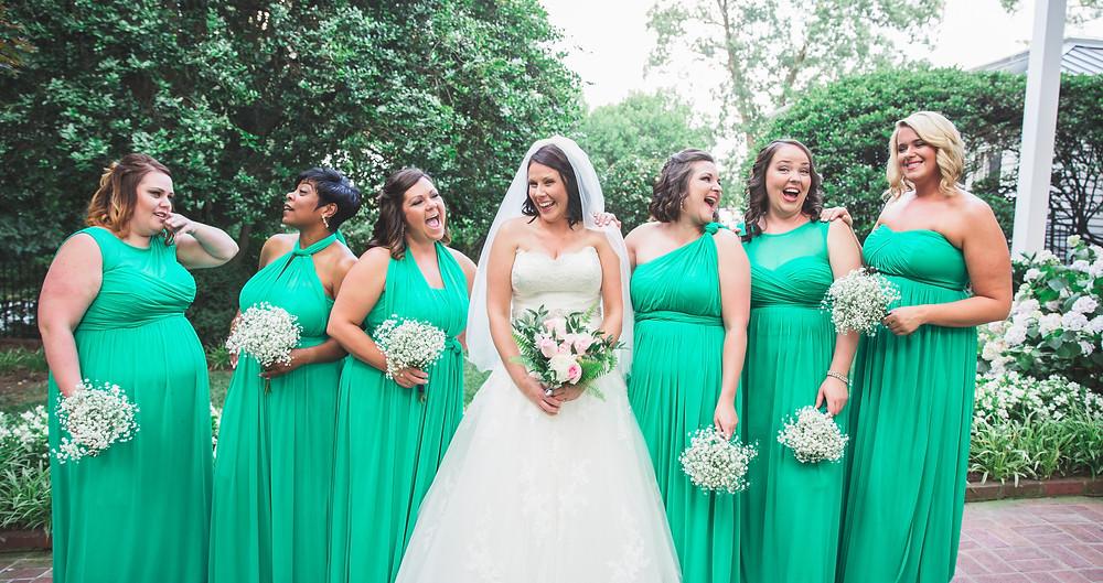 Silly bridesmaids pose