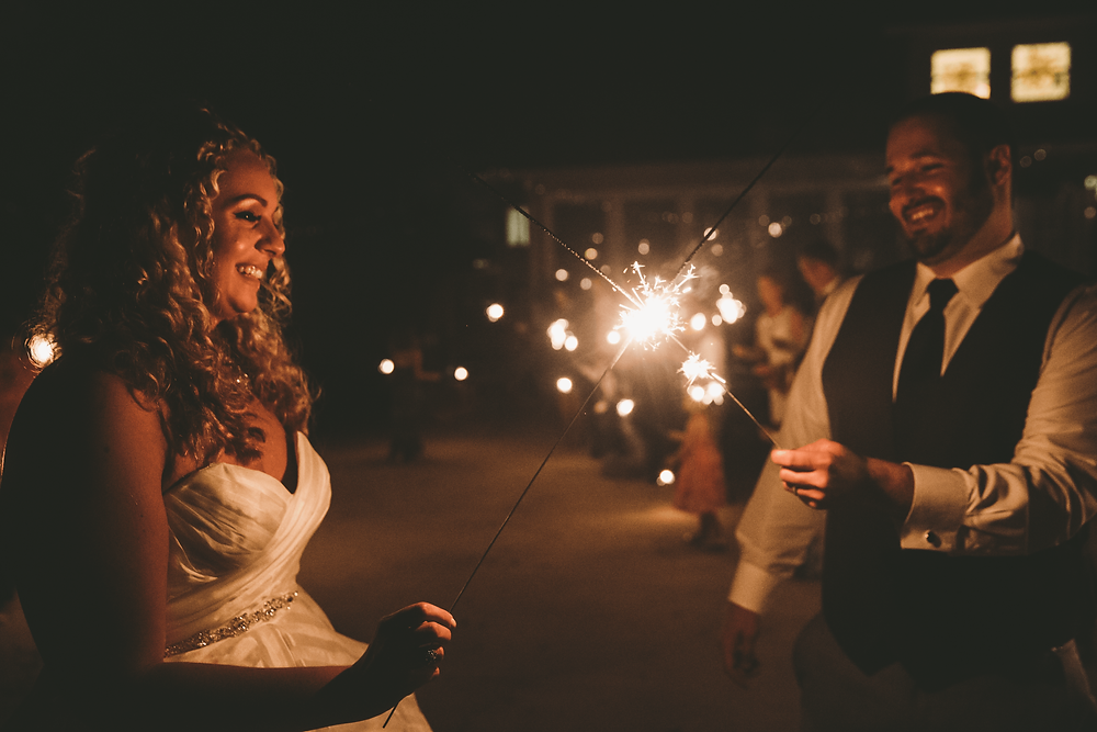 Sparkler exit with natural light