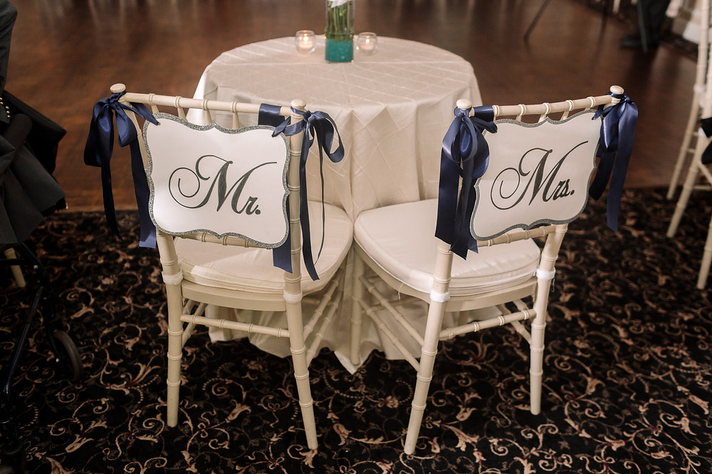 Mr and Mrs decorations