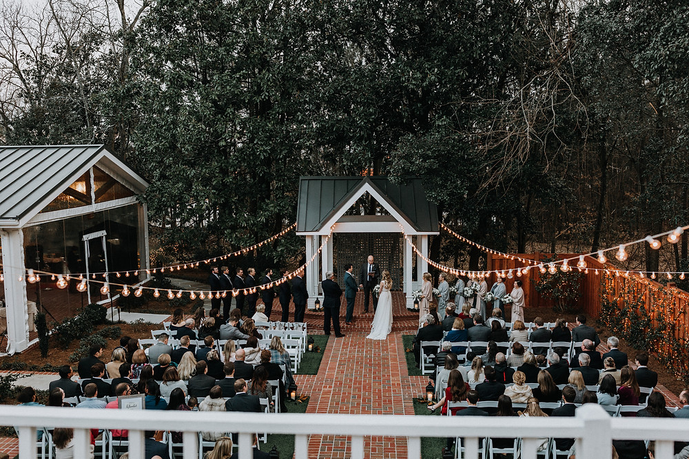 Flint Hill outdoor wedding ceremony