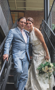 Wedding entry from stairway