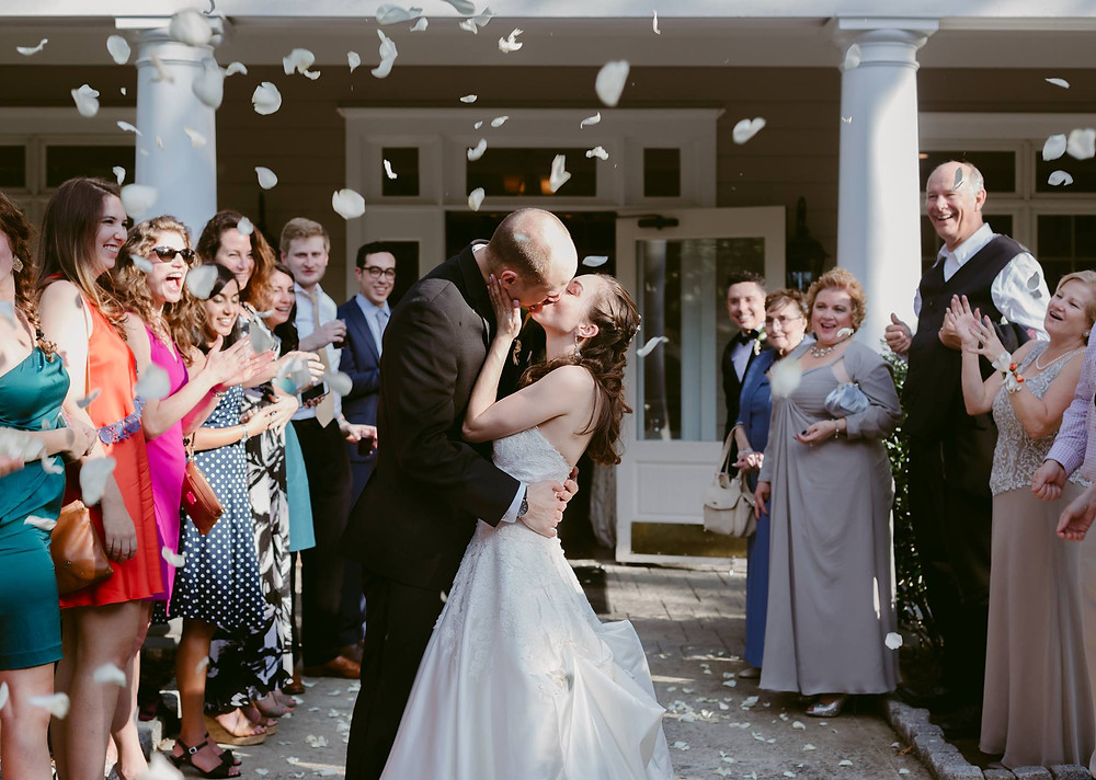Flower petal wedding exit Chastain Horse Park Atlanta
