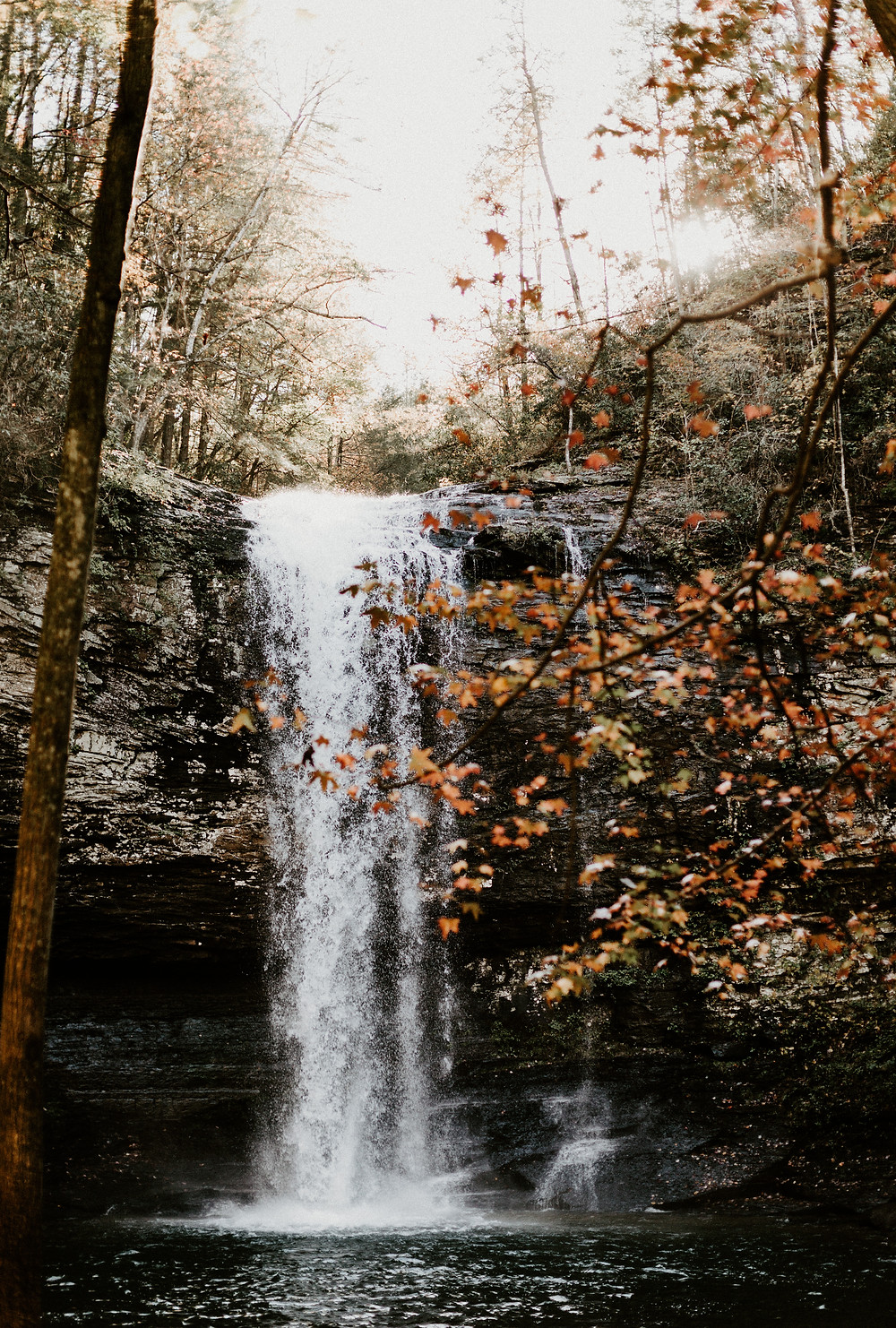 Cloudland Canyon Waterfall Engagement Session
