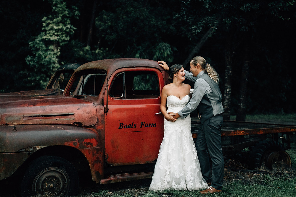 The Boals Farm rustic truck