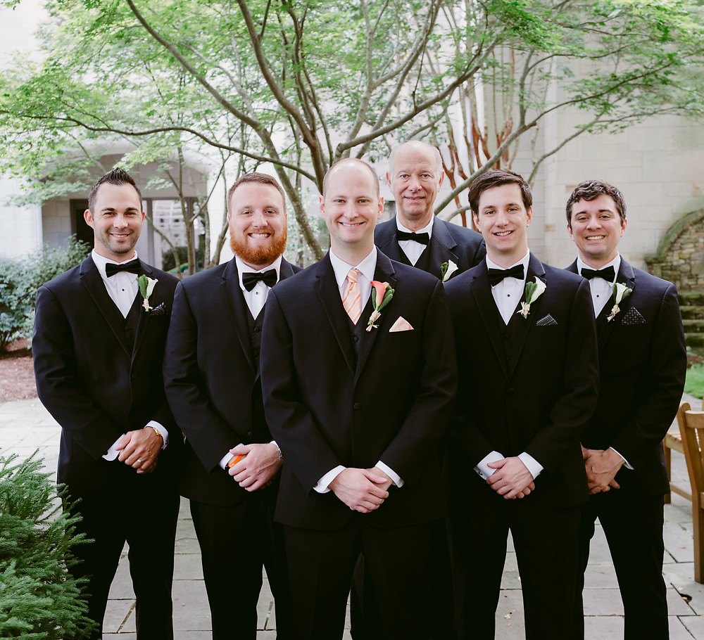 Groomsmen wedding portrait