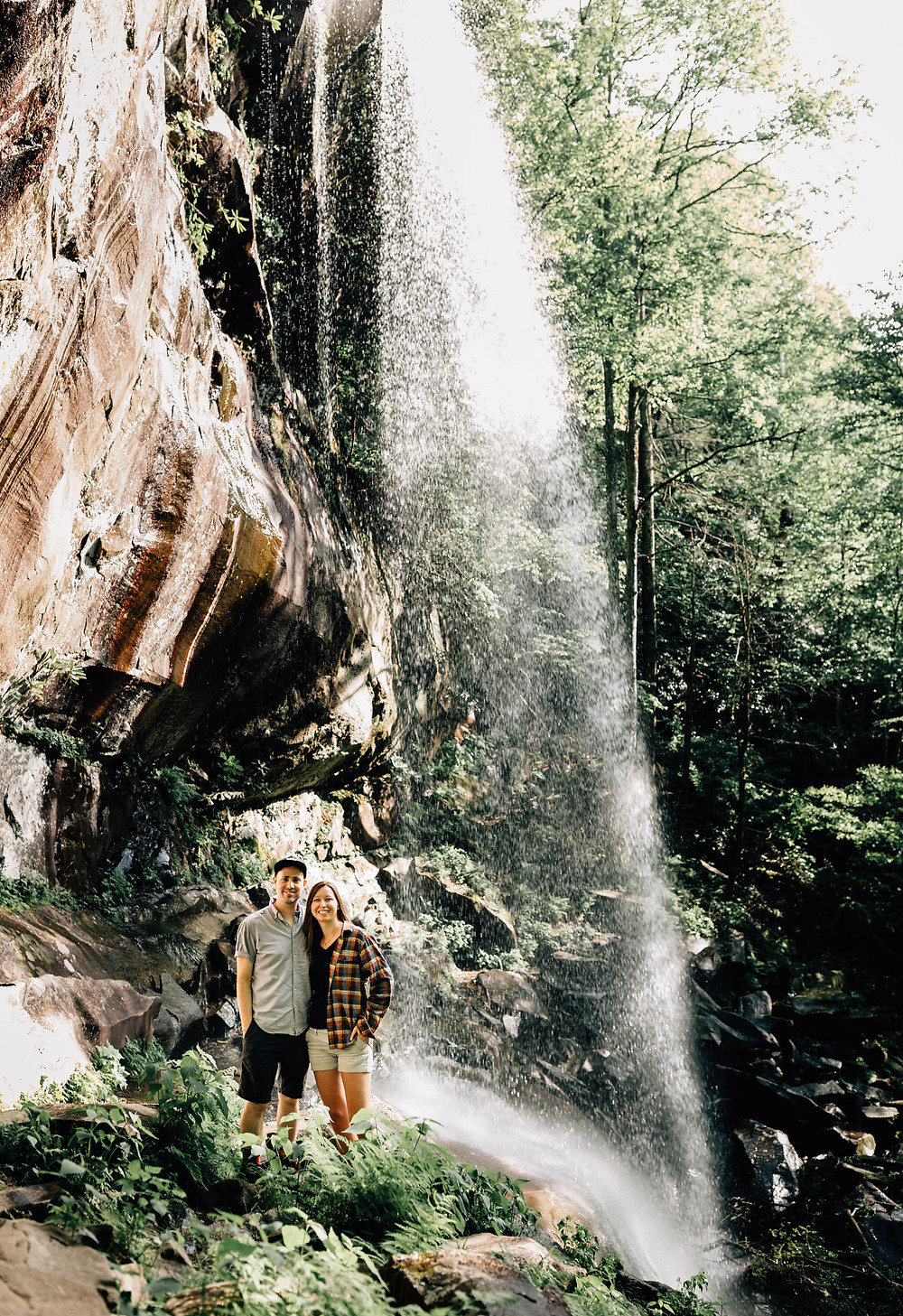 Rainbow Falls in Tennessee