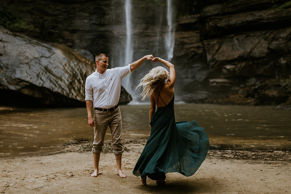 Water Fall Engagement Session