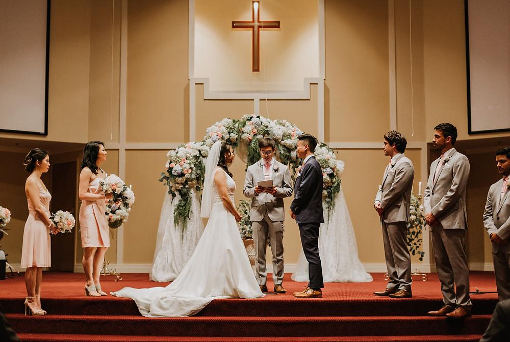 wedding ceremony conclused