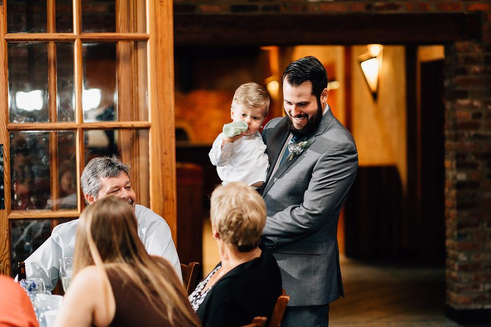 Polaroid pictures at wedding