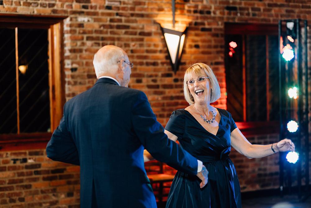 The Blacksmith Shop Macon wedding reception pictures