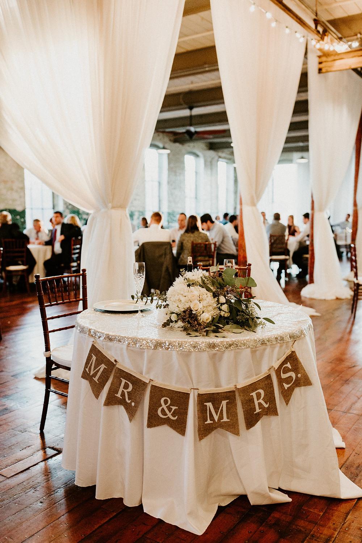 Wedding Couple's table