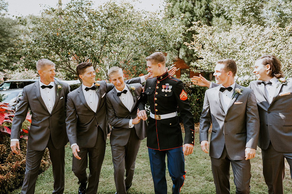 groomsmen candid
