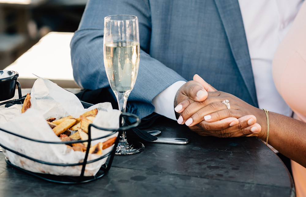 Food and engagement pictures