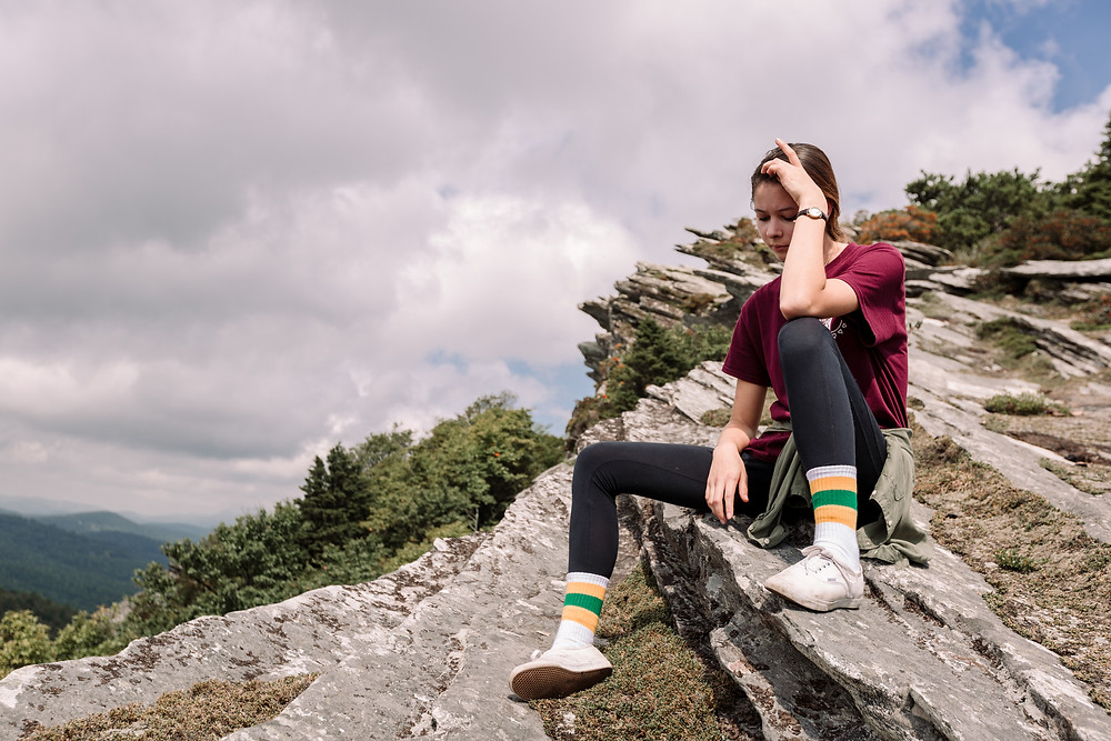 Tube sock and wrong shoes camping