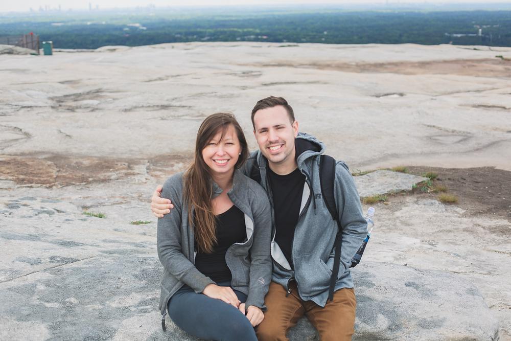 Stone Mountain portrait of us
