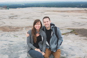 Stone Mountain portrait of us
