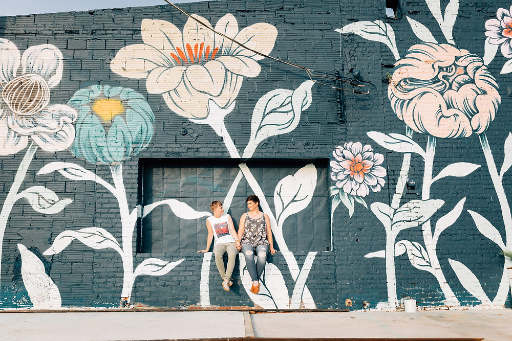 Wall art Atlanta engagement pictures