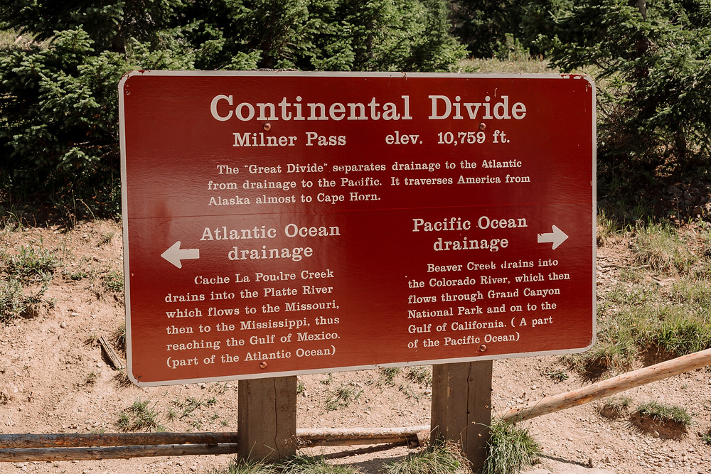 Mount Ida Continental Divide sign