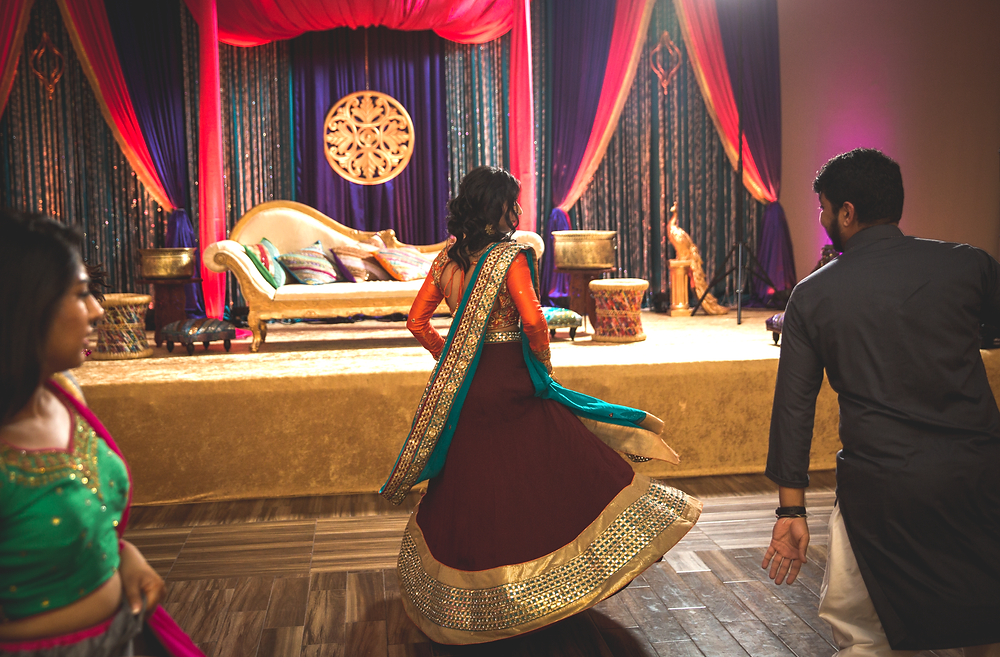 Bride dances during Sangeet