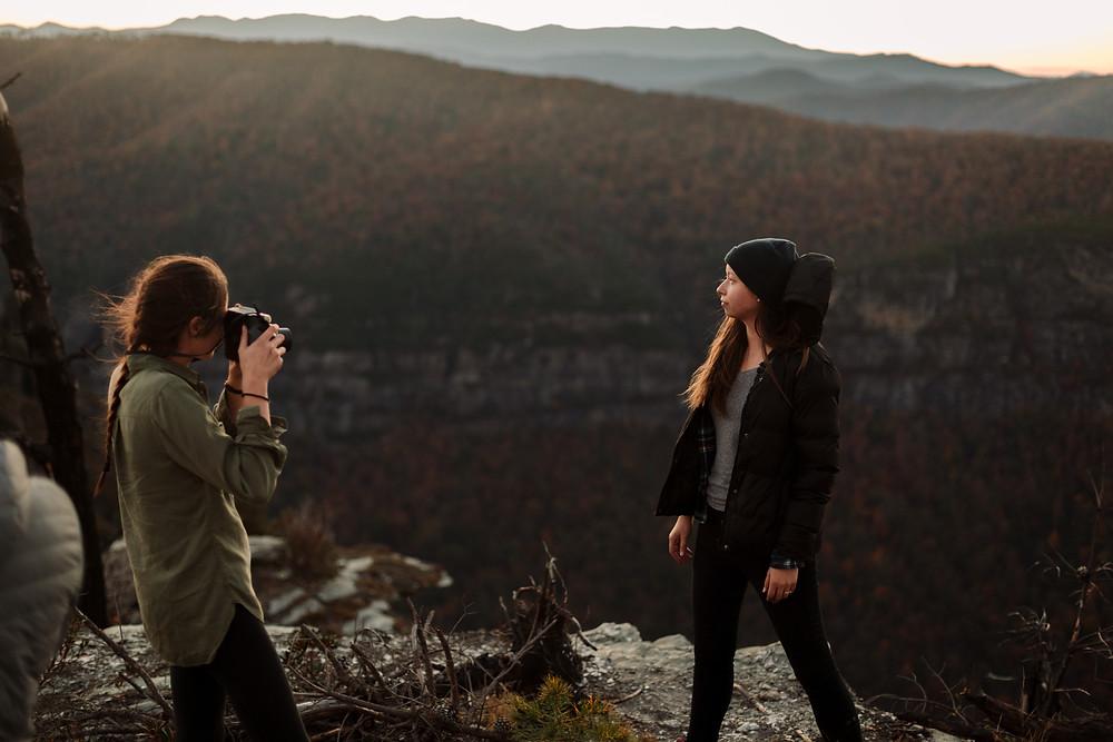 Polaroid film at sunset