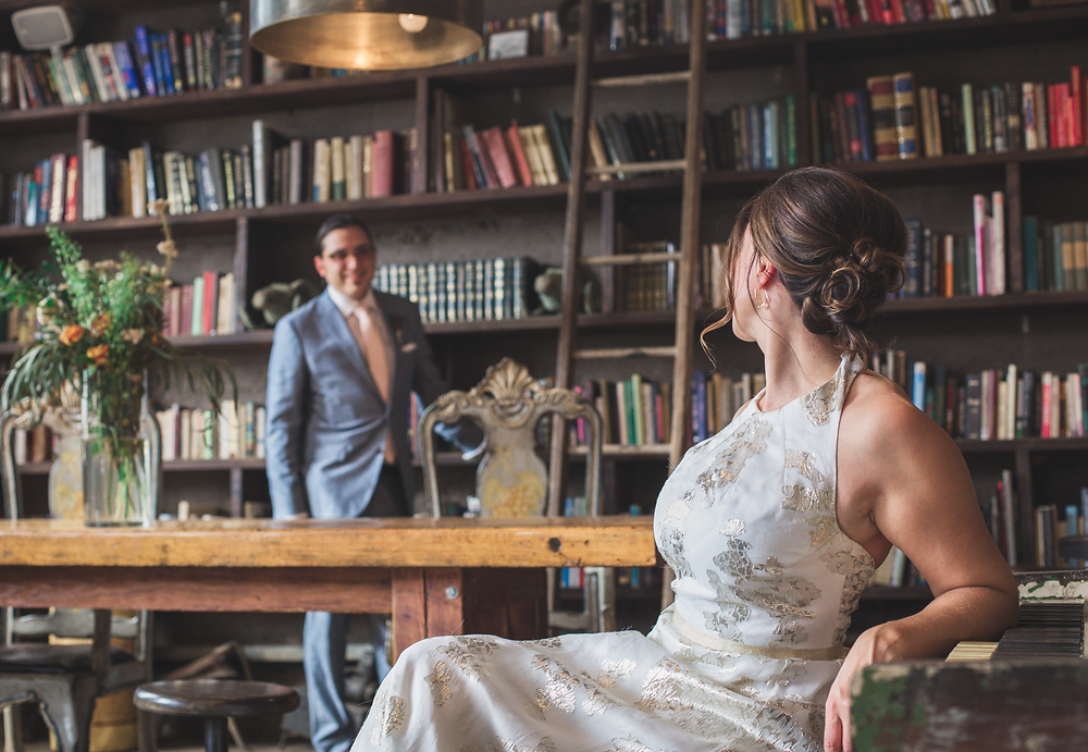 Library wedding portraits ideas