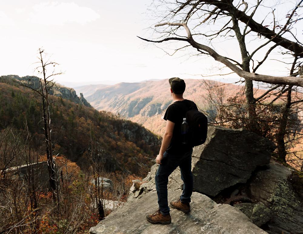 Erik looks at Linville Gorge