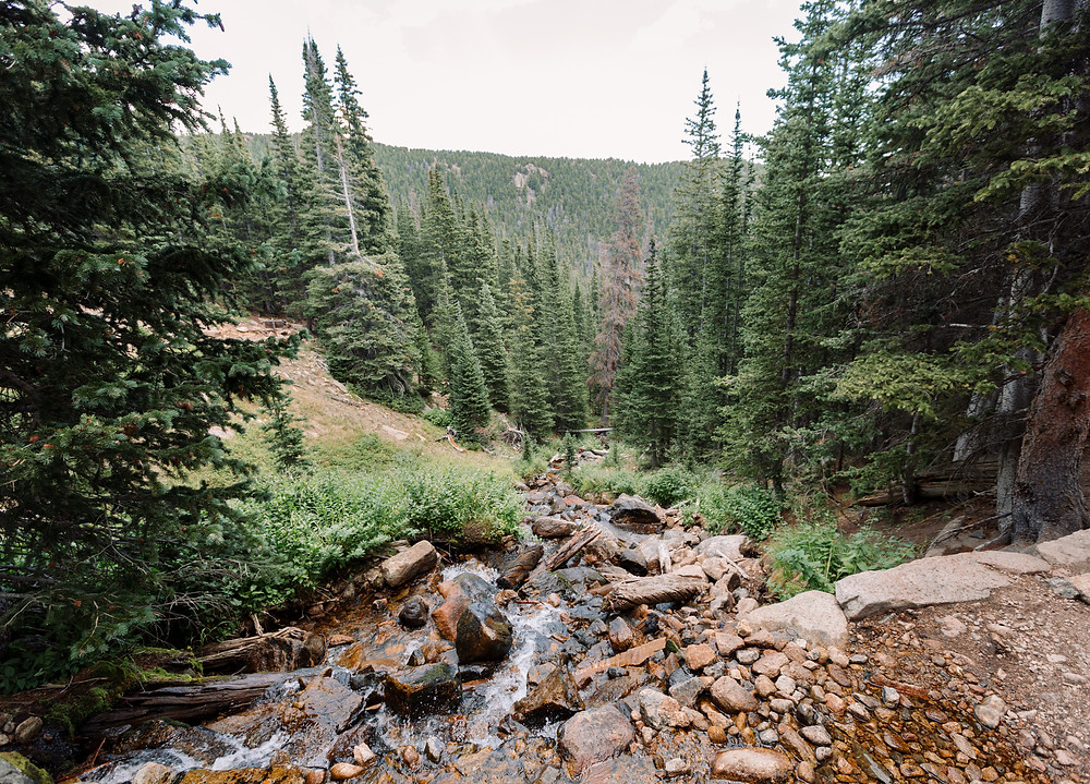 Small waterfall at Long Peak