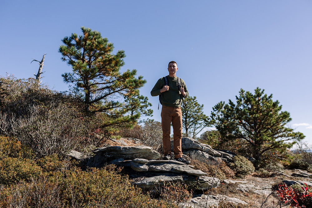 Climbing Table Rock Mountain