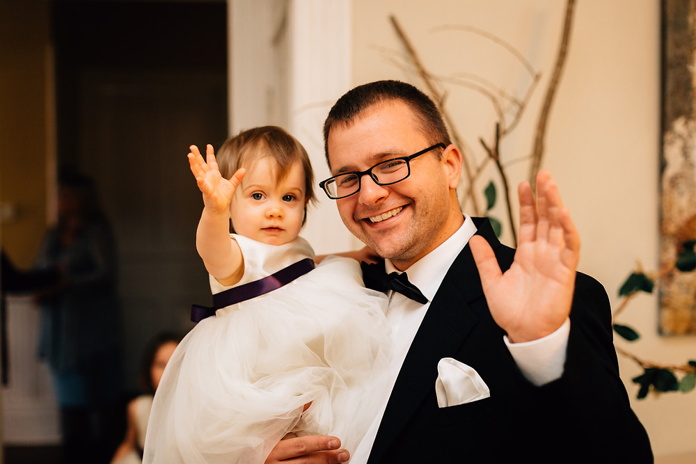 Flower girl with dad