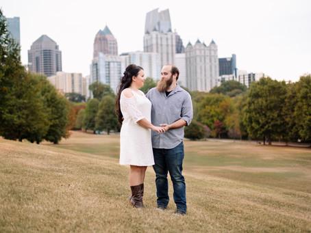 Catie & Ethan's Fall Piedmont Park Engagement Session