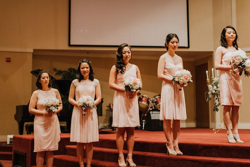 bridesmaids watch ceremony