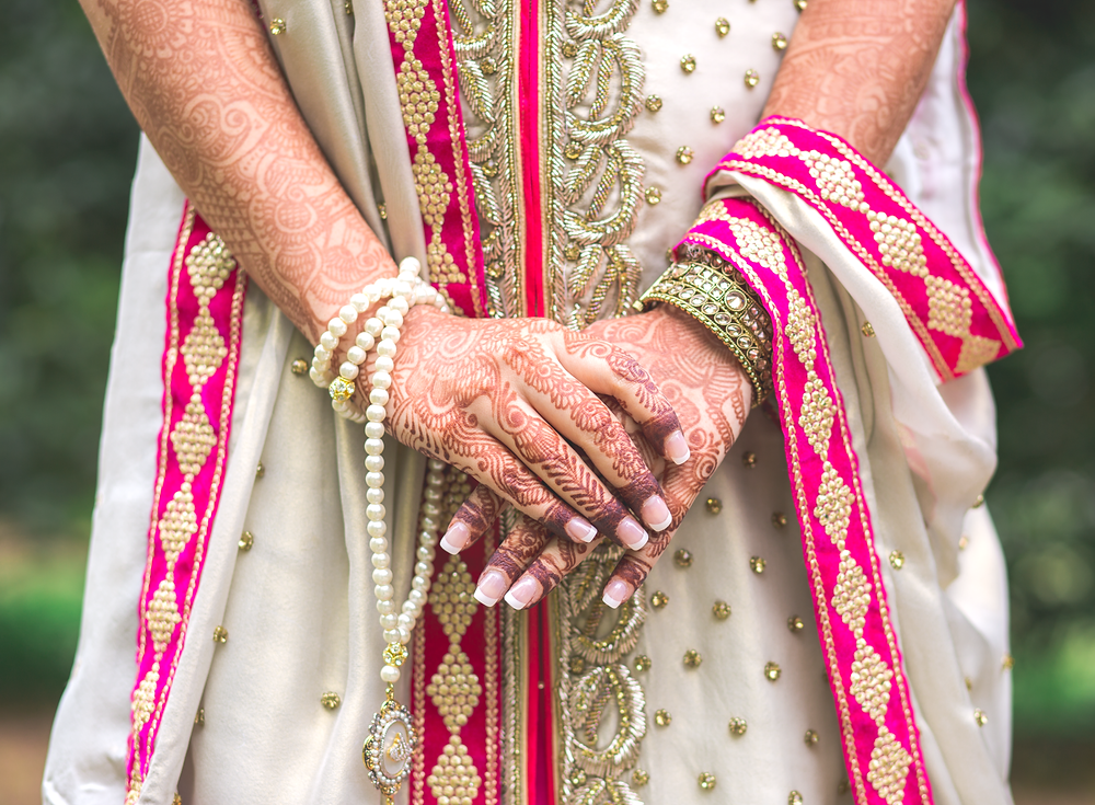 Indian bride's hands