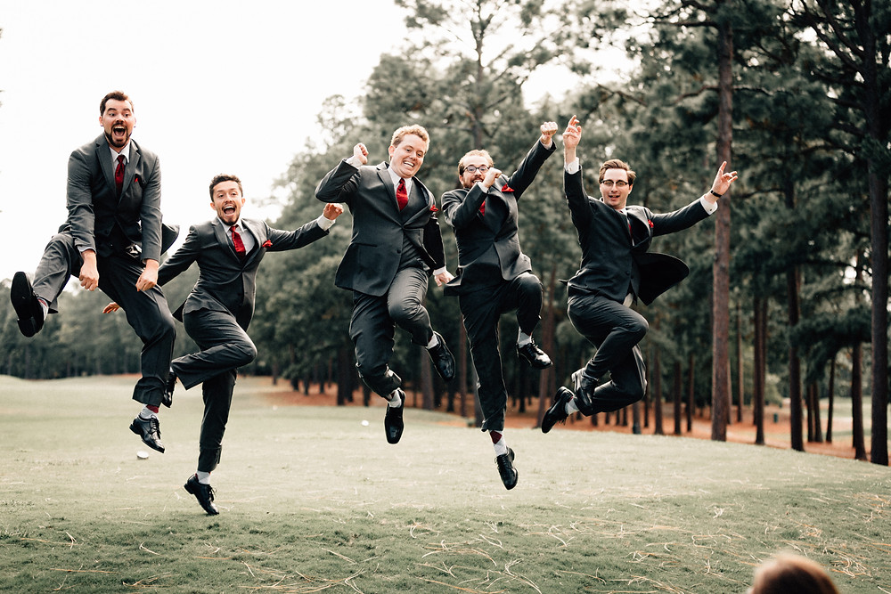 Groomsmen jumping pictures