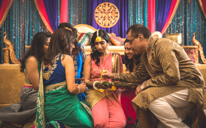 Bride's family Mehndi ceremony