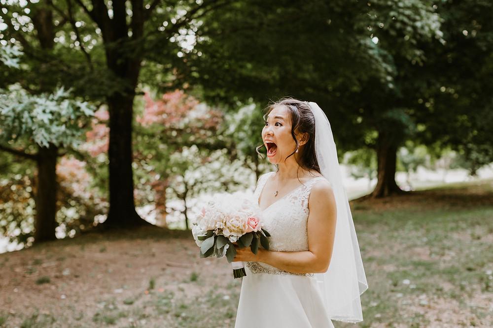 brides reaction