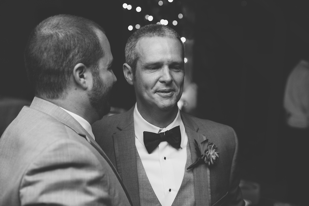 Groom's brother sheds an emotional tear