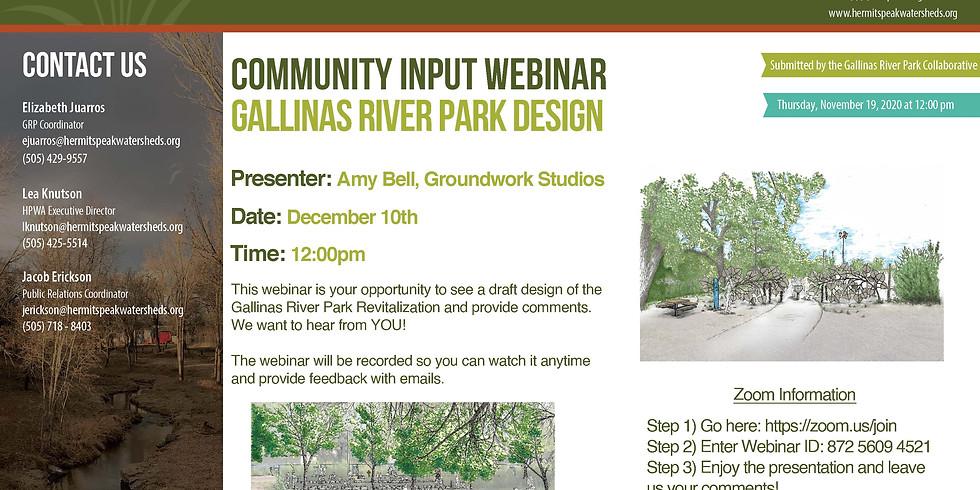 Gallinas River Park Design Community Input