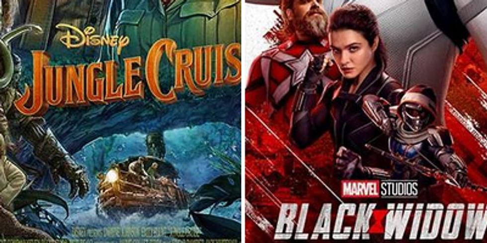 Indigo Theatre July 30 to August 1 - Jungle Cruise & Black Widow