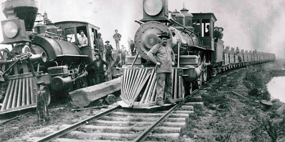 A historic slide show featuring railroad memorabilia from around New Mexico