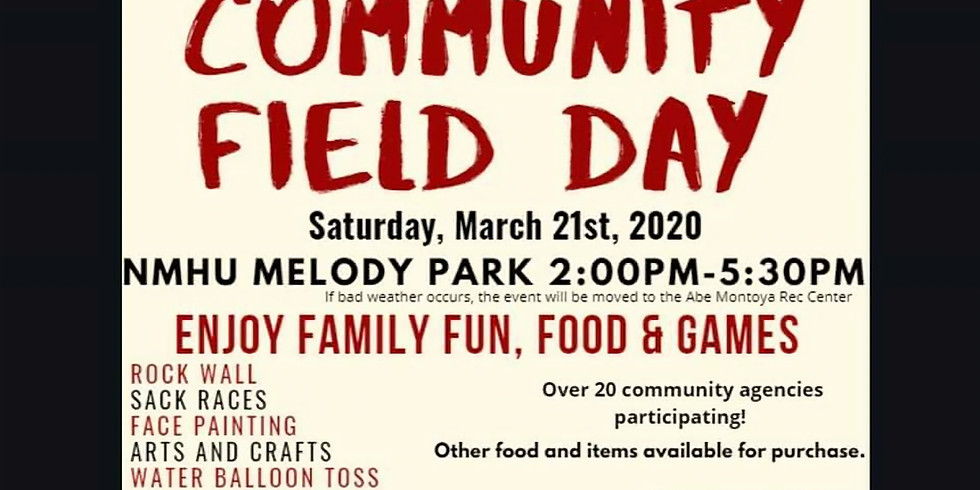 CANCELLED - Community Field Day